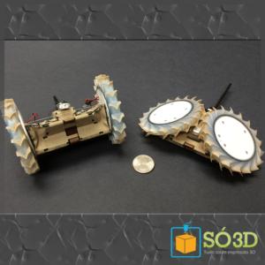 Robô Puffer, impresso em 3D, pode ser companheiro do Roover.