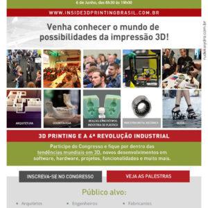 Ingressos a venda para a feira Inside 3D Printing Brasil