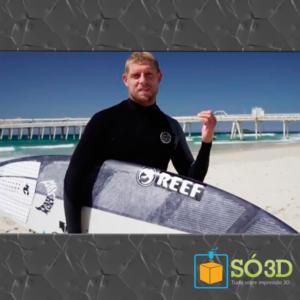 PRIMEIRA PRANCHA DE SURF IMPRESSA EM 3D