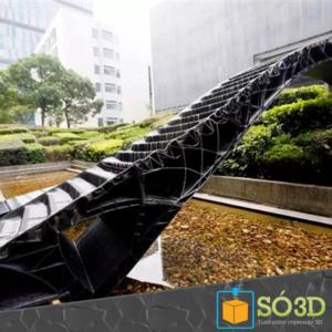 UNIVERSIDADE IMPRIME PONTE EM 3D<