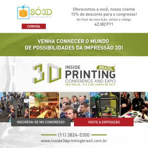 Feira Inside 3D Printing acontecerá em breve no Brasil