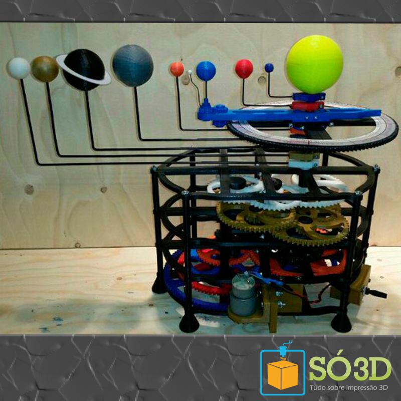 INCRÍVEL E FUNCIONAL SISTEMA SOLAR IMPRESSO EM 3D<