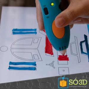 Aplicativo transforma smartphone em tela de caneta de impressão 3D